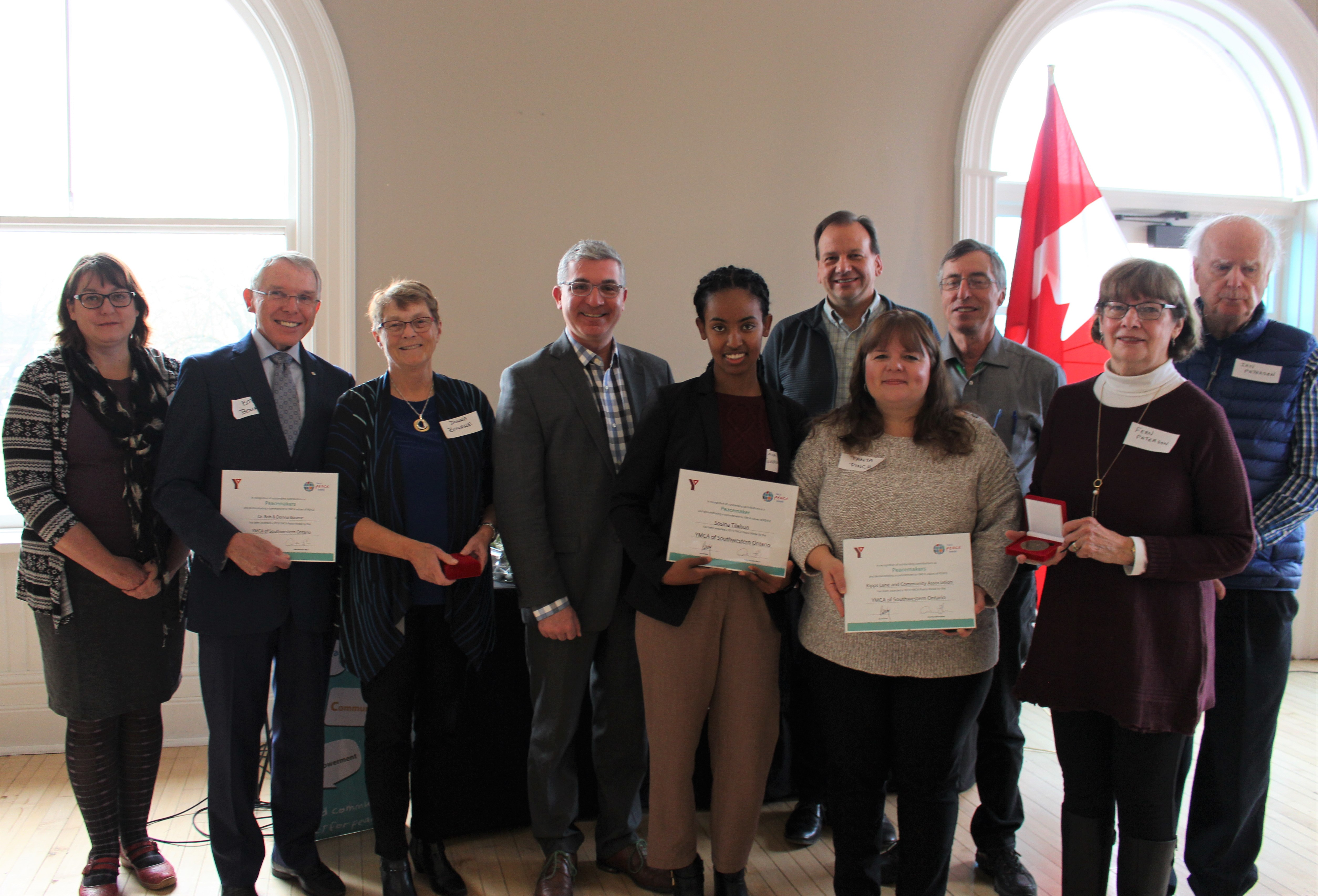 London recipients during YMCA Peace Week
